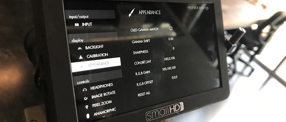 Hands-On Review: Small HD Focus Monitor — Monitor Settings