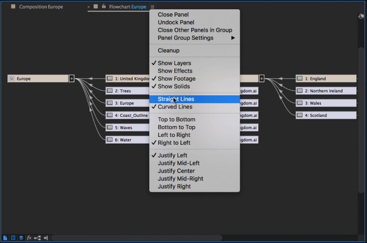 Working with Flowcharts in Adobe After Effects — Display Options