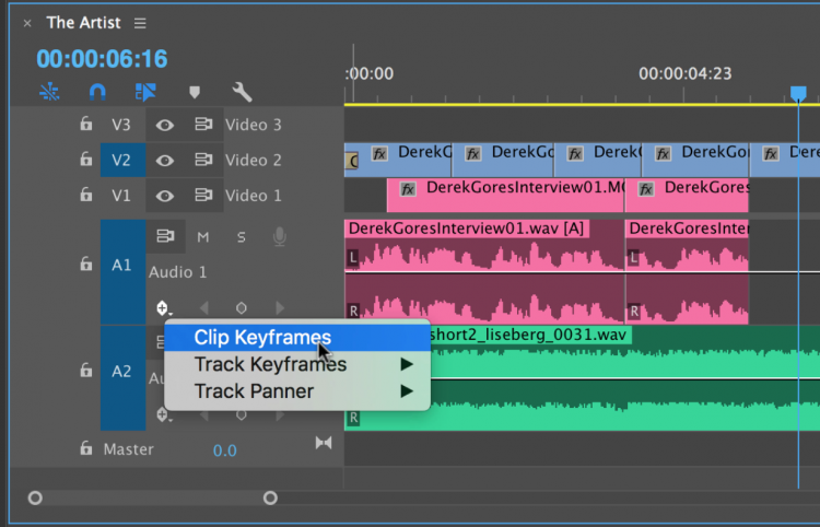 Audio Mixing in Premiere Pro's Clip Mixer — Display Options