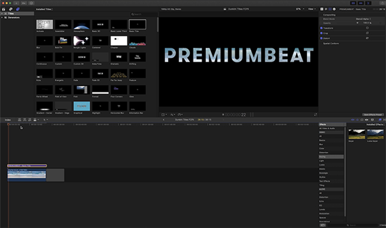 Create Transparent Titles Inspired by Dunkirk in Premiere Pro and FCPX — FCPX
