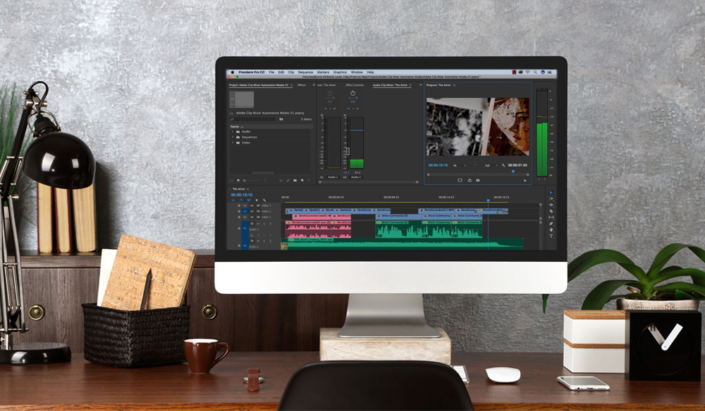 Audio Mixing in Premiere Pro's Clip Mixer