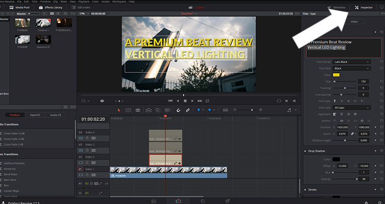Is Resolve's Title Generator a Hit or a Miss? — Inspector Panel