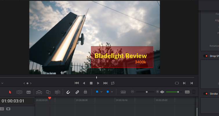 how to change background in davinci resolve