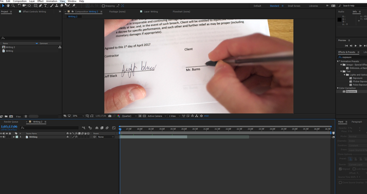 How to Create a Pen Camera in After Effects — Create Composition