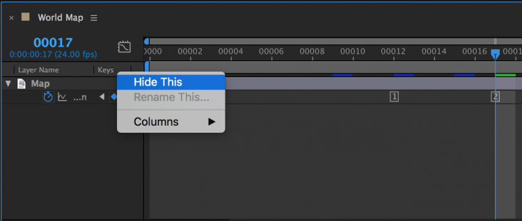 Customize Composition in Adobe After Effects Displays — Hide This