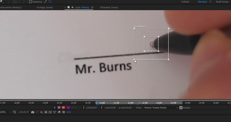 How to Create a Pen Camera in After Effects — Adjust Tracking