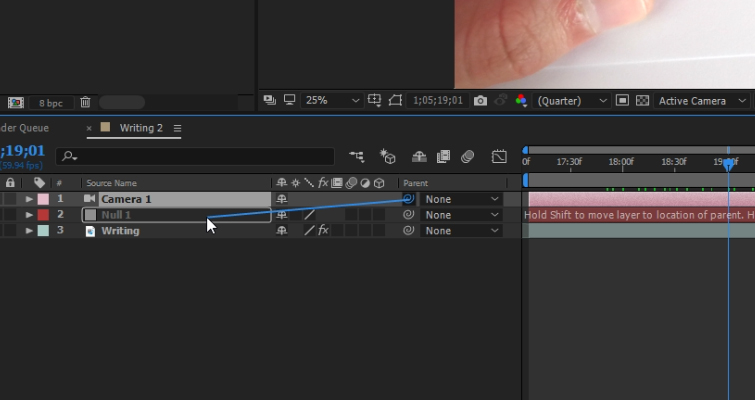 How to Create a Pen Camera in After Effects — 3D Layer