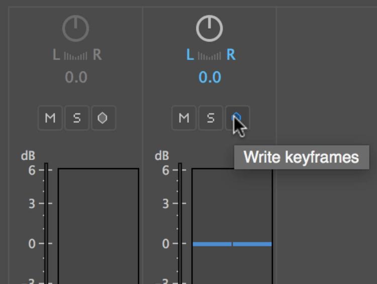 Audio Mixing in Premiere Pro's Clip Mixer — Write Keyframes