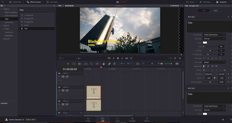 Is Resolve's Title Generator a Hit or a Miss? — Lower Thirds