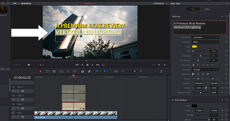 Is Resolve's Title Generator a Hit or a Miss? — Change Size