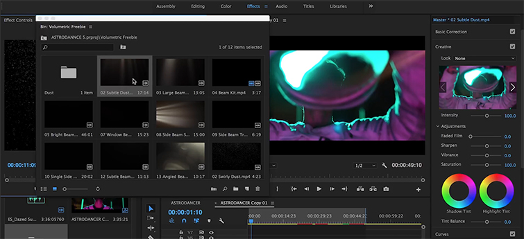 How To Layer Elements On Footage + 16 FREE Overlays — Volumetric Freebie