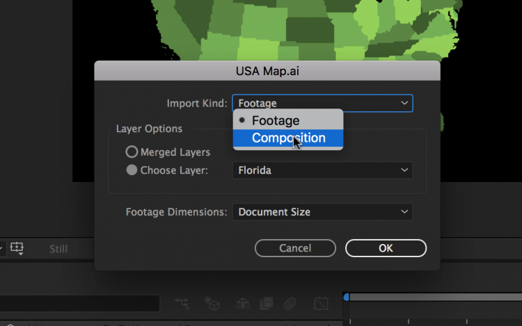 Working with Illustrator Files in Adobe After Effects — Import