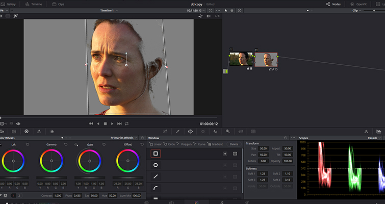 How To Make Someone Look Ill Without Makeup In DaVinci Resolve — Square Power Window