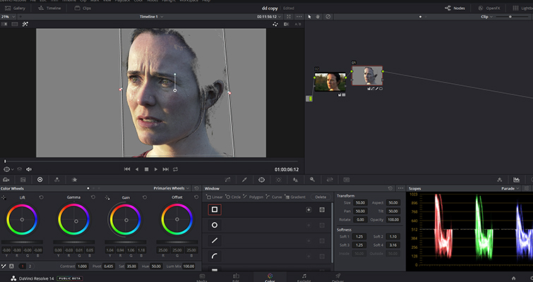 How To Make Someone Look Ill Without Makeup In DaVinci Resolve — Lower Saturation