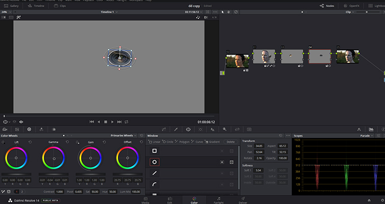 How To Make Someone Look Ill Without Makeup In DaVinci Resolve — Circular Power Windows