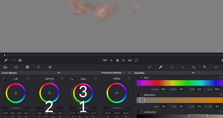 Reduce Unwanted Skin Shine In Post-Production with DaVinci Resolve — Lower Gain