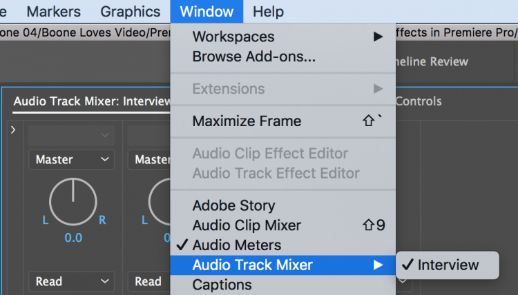 Improve Your Edits with Better Audio in Premiere Pro — Audio Track Mixer