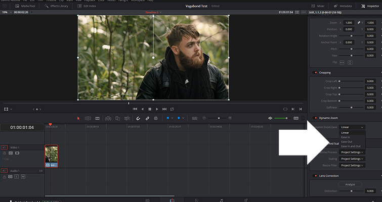 Get to Know The Dynamic Zoom Tool In Resolve 14 — Customization