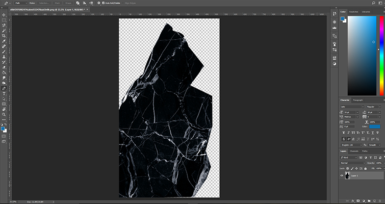 Create A Cracked Phone Screen Effect in After Effects — Import Texture