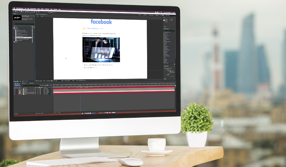 Create and Animate the Facebook UI in Adobe After Effects