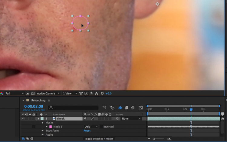 How to Quickly Retouch Skin in Adobe After Effects — Move Layer