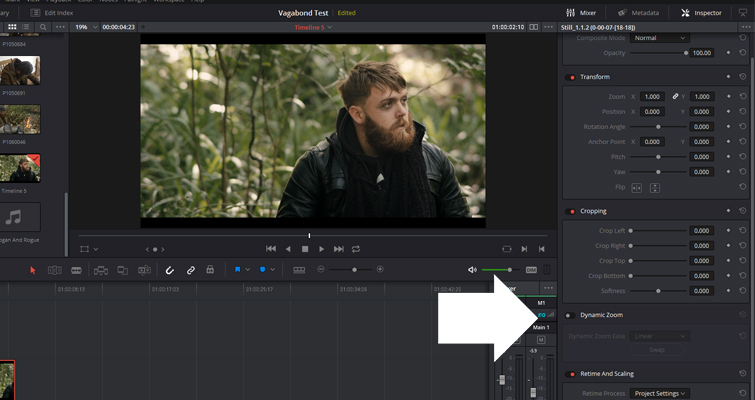 Get to Know The Dynamic Zoom Tool In Resolve 14