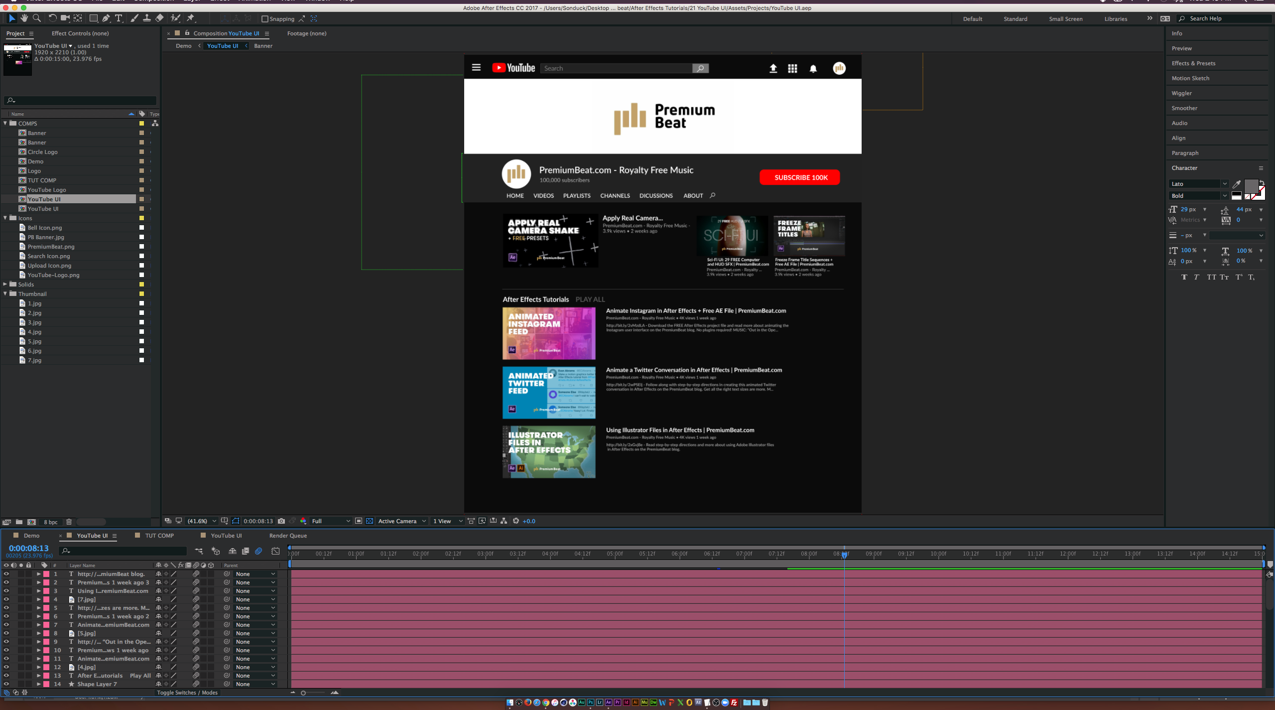 Create and Animate the YouTube UI in Adobe After Effects — Tutorial