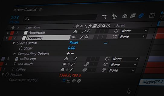 Control Expressions in Adobe After Effects with Sliders