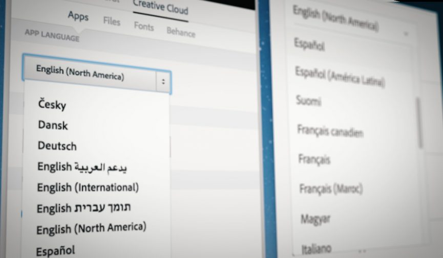 Change The Language Of Adobe Creative Cloud Apps
