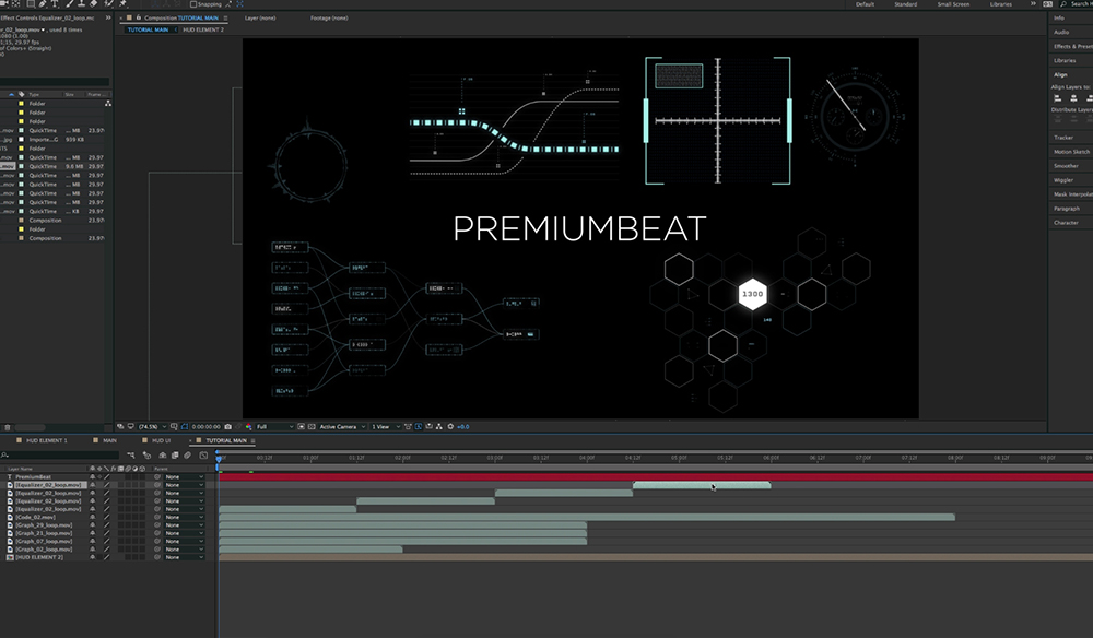 Create and Composite Sci-Fi UI Graphics in After Effects — UI
