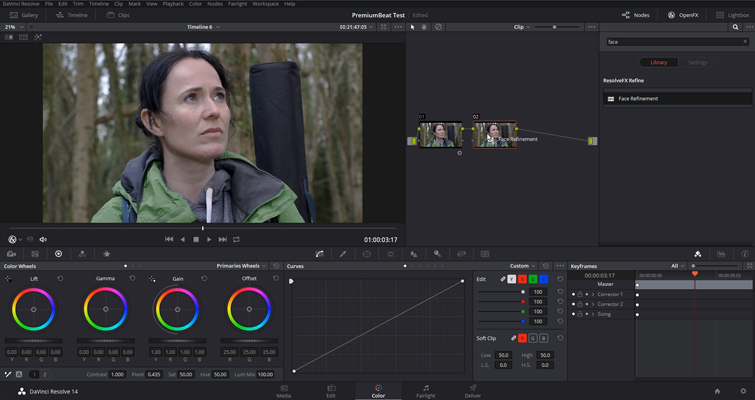 Working with DaVinci Resolve 14's Powerful Face Refinement Plug-in — Add Node