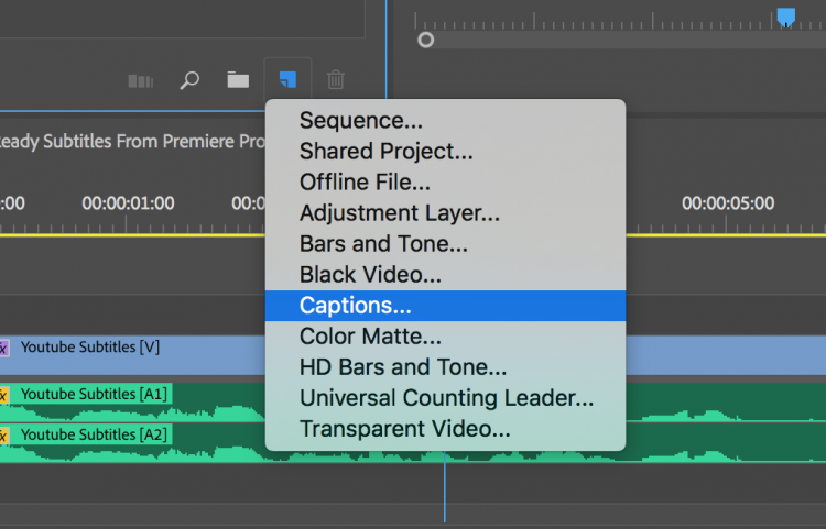 Export YouTube-Ready Subtitles Directly from Premiere Pro — Create File