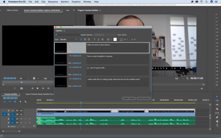 Export YouTube-Ready Subtitles Directly from Premiere Pro — Add Text