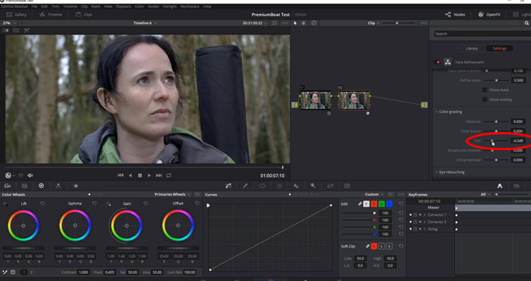 Working with DaVinci Resolve 14's Powerful Face Refinement Plug-in — Color Grading Panel