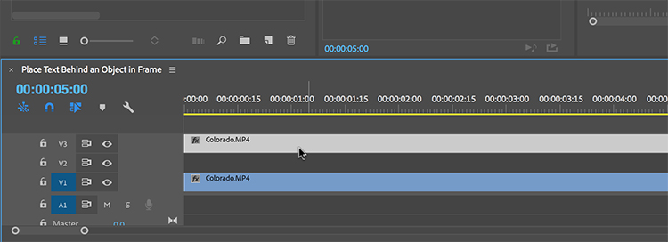 How to Layer Text Behind Objects in Adobe Premiere Pro — Duplicate Layer