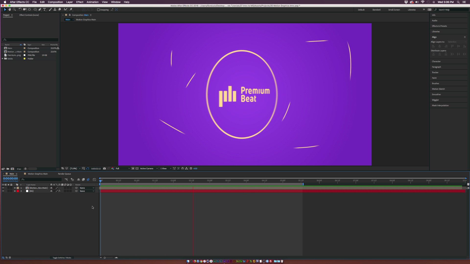 2D Motion Graphics