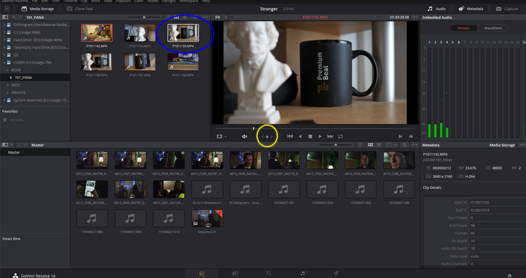 What You Need to Know About Resolve 14's Latest Media Page — Scrub Button