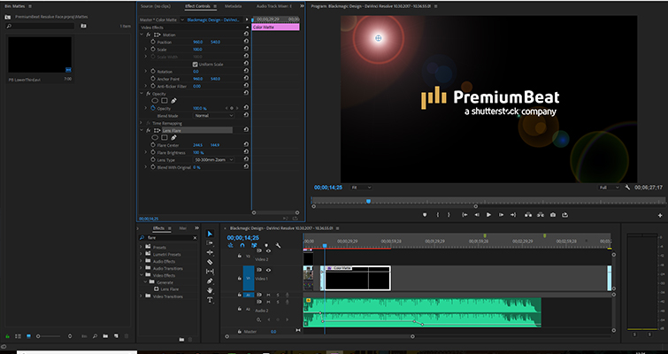 How to Create A Realistic Lens Flare In DaVinci Resolve — Flare Plug-ins
