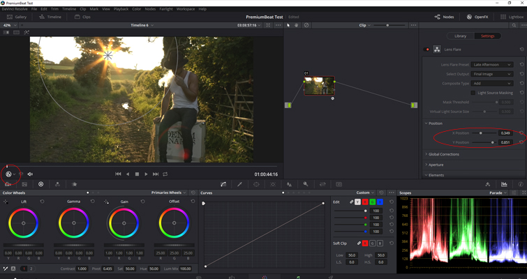 How to Create A Realistic Lens Flare In DaVinci Resolve — OpenFX