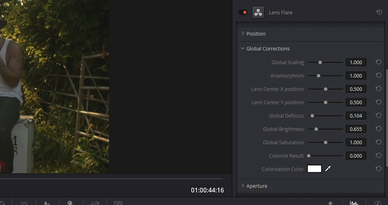 How to Create A Realistic Lens Flare In DaVinci Resolve — Elements Panel