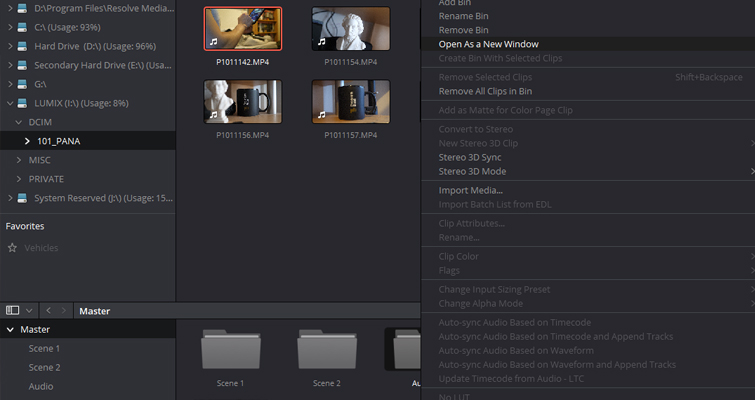 What You Need to Know About Resolve 14's Latest Media Page — Bin Popout