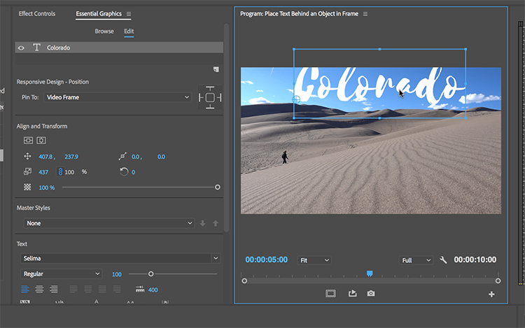 How to Layer Text Behind Objects in Adobe Premiere Pro