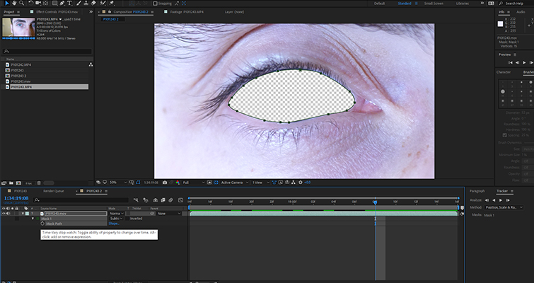 How To Create a Blinking Eye Transition in After Effects — Create Mask