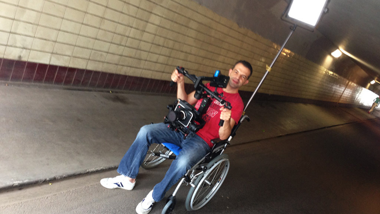 7 DIY Filmmaking Techniques Using the Versatile Wheelchair Dolly — Low-Angle Tracking