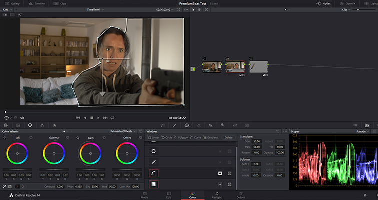 How to Replicate Cast Shadows In DaVinci Resolve — Increase Midtones