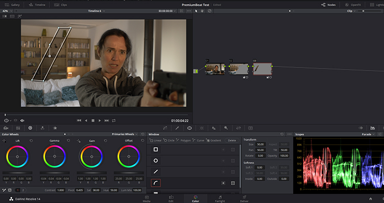 how to get rid of shadows in davinci resolve