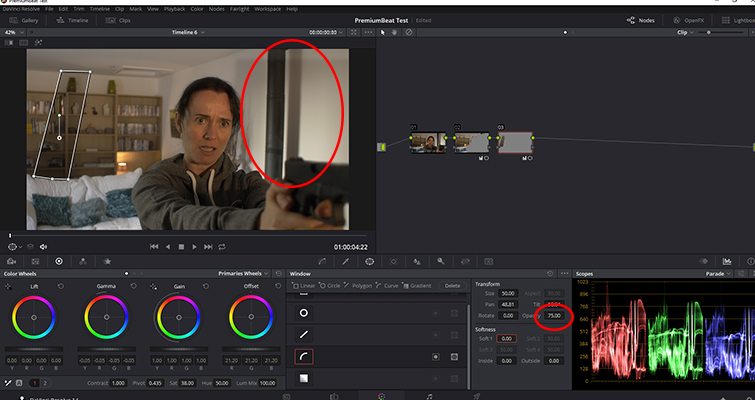 How to Replicate Cast Shadows In DaVinci Resolve — Shadow Density