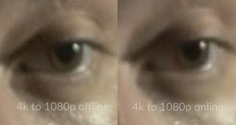 Is Downscaling 4K to 1080p Worth It After Online Compression? — Hue Change