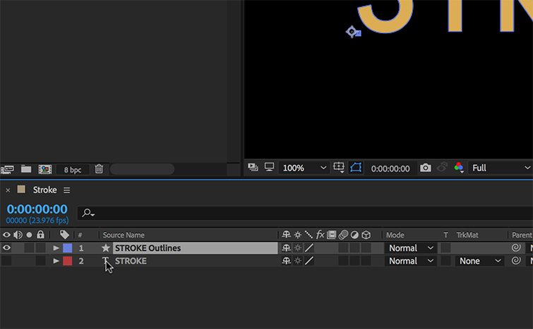 How to Animate a Text Stroke in Adobe After Effects — Convert to Shapes