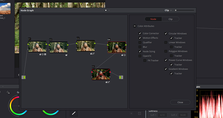 A Look At DaVinci Resolve's New Node Graph Feature — Node Panel
